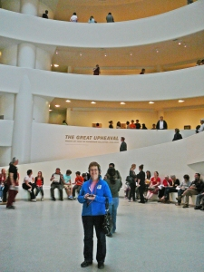 mom at the guggenheim