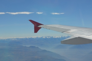 flying thru the andes for the first time...