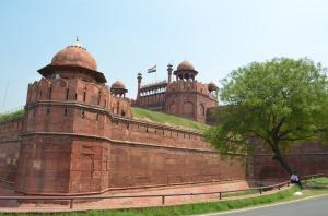 impressive red fort