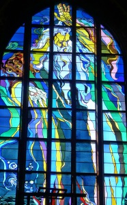 a tiny piece of the amazing art deco stained glass